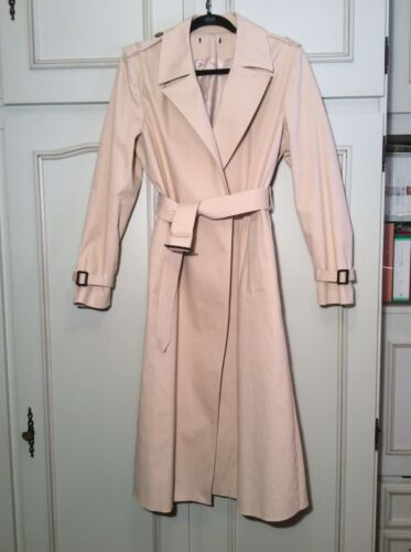 Zara trench coat beige long impermeable  neuf taille l/ long beige trench coat l