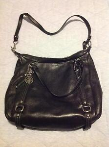 Coach black leather bag Fitzroy North Yarra Area Preview