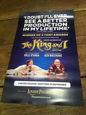 The King & I - West End - London Palladium 2018 - Theatre - London - Poster