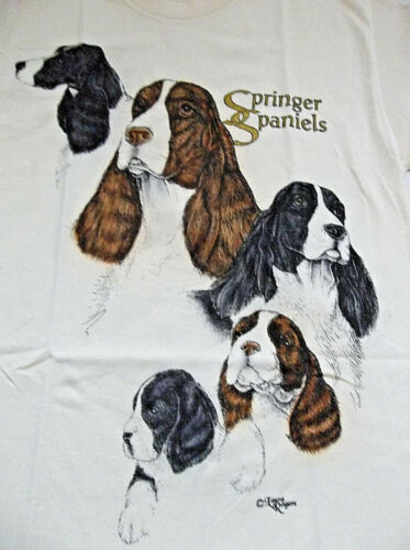 "Springer Spaniel T-shirt "" Natural "" 2XL ( 50 ~ 52 )"