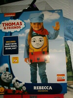Thomas Train Costumes (nip-NickJr.-Thomas the Train-3 pc. Child-Halloween-Costume-Pretend)