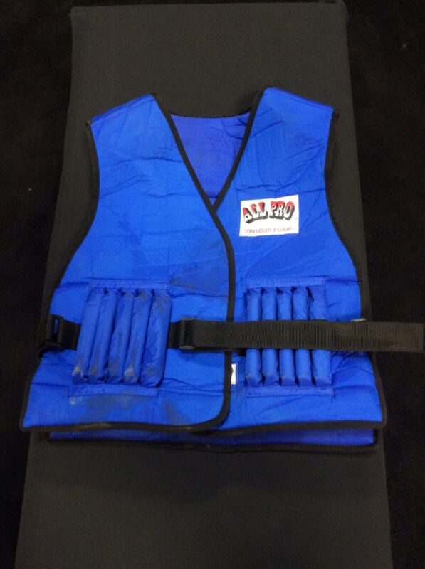 All Pro Contour Foam Weighted Exercise Vest . 22 Weights. Used