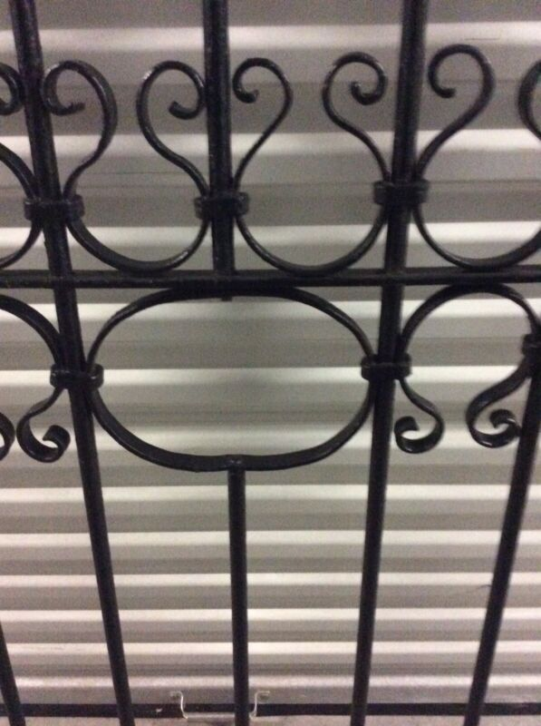 Antique Ornamental Wrought Iron Gate Fence Piece Fixture From Beaufort, SC
