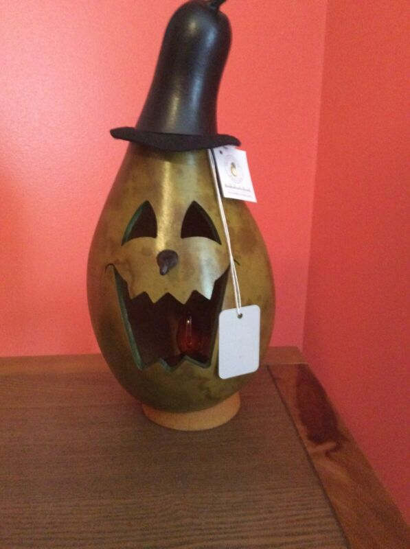 Meadowbrooke Farms Halloween Lighted Green Witch Gourd Decoration