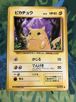 1st Print Vintage 1996 Pokemon Cards Base Set Pikachu Near Mint