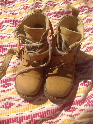 Genuine Vintage Leather Kickers Boots With Straps Size 6