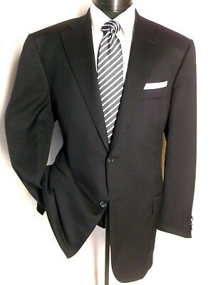 Corneliani Super fine wool 17,75 Micron Navy Blue Solid 2Button Sport jacket 46L