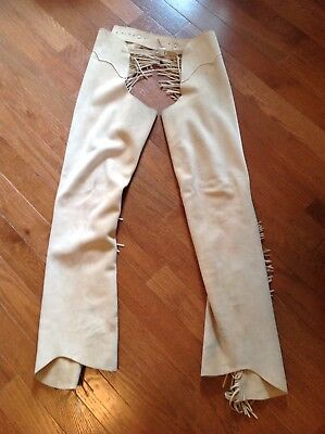 Used western leather chaps. Very good condition. Custom made.