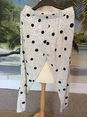 Jacqueline de yong~ white spotty casual spotty trousers~Medium (10-12) comprar usado  Enviando para Brazil