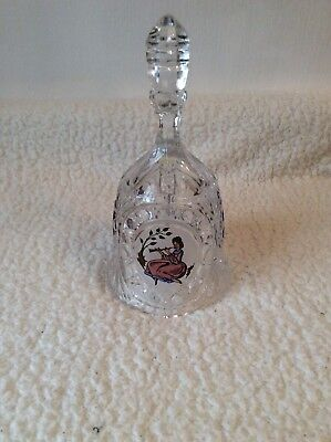 Large Cut Glass Bell With Decorative Pannels
