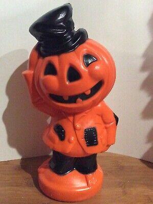 Halloween Pumpkin Jack-O-Lantern Trick or Treat Blow Mold Vintage Scarecrow