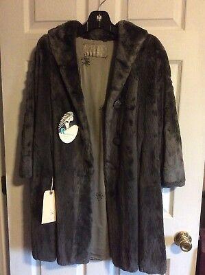 Vintage Gray Sheared Beaver Fur Coat