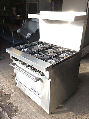 American Range 6 Burner Gas Range With Oven