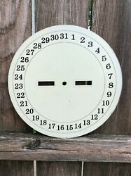 Vintage American Calendar Wall Clock Large Lower Dial,  Seth Thomas?