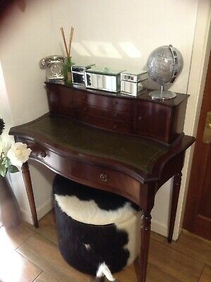 Antique Desk  Leather Writing Table Mahogany Vintage Safe Collection From Carpor