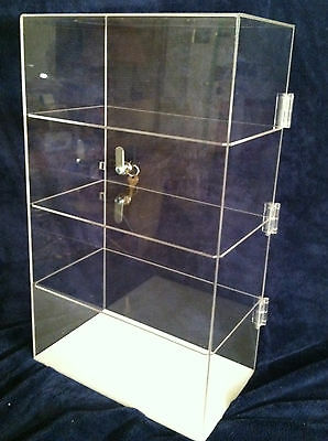 Acrylic Countertop Display Case 12x9x 20.5 Locking Security Show Caseshelves