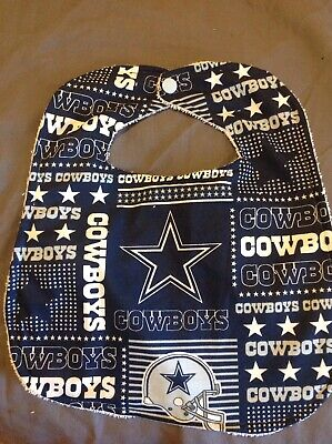 Dallas Cowboys Football Bib Large Baby Toddler Drool Bib Washcloth Terry Cloth