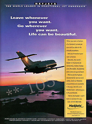 NETJETS  ADVERT - Original 1999 Advertisement