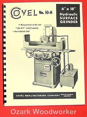 Covel No. 10h 618 Surface Grinder 6x18 Operator Parts Manual 0165