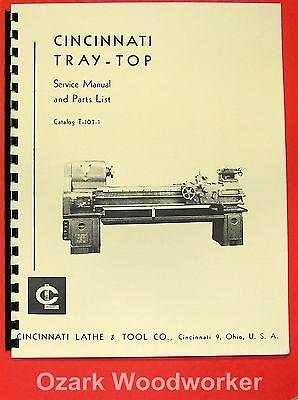 Cincinnati Tray Top Metal Lathe Operator Parts Manual 0129