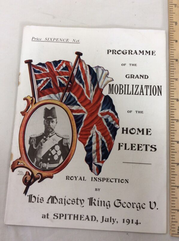 Programme Of The Grand Mobilization Of The Home Fleets Spithead July 1914Booklet