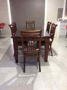 7 Piece (6 seat) Solid Wood Dining Table Lynbrook Casey Area Preview