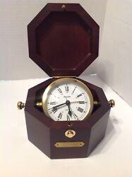 Bulova B7910 Quartermaster Maritime Clock Table Desk Quartz Made In Germany