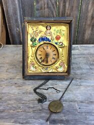German Black Forest, Wag on the Wall , Picture Frame Clock