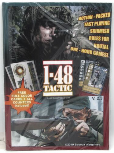 1-48 Tactic 48TAC01 Main Rules with Counters & Cards (Book) WWII Skirmish Game