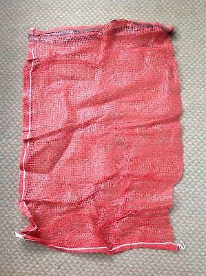 20 Strong Red Net Woven Sacks For Logs/Kindling/Vegetables