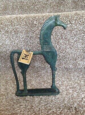 Greek Horse Sculpture Oxidised Bronze