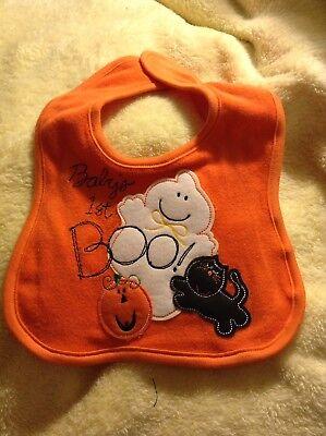 "New Infant Halloween Bib ""Baby"