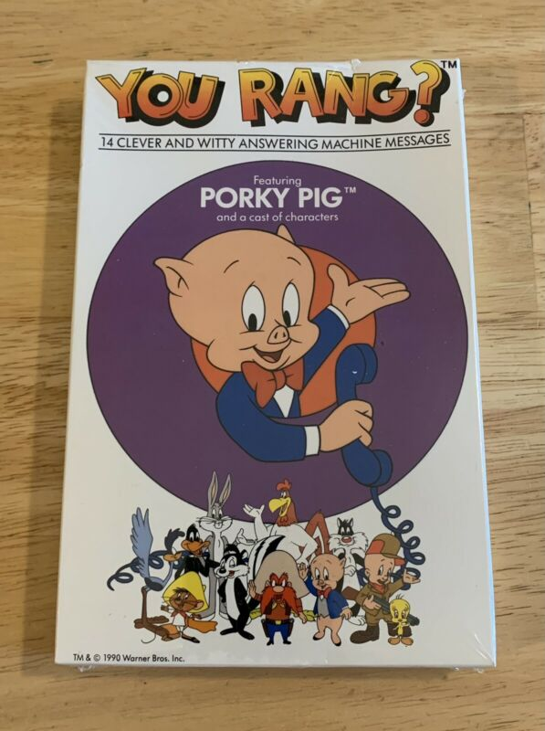 Porky Pig You Rang? Answering Machine Cassette Tape NEW Sealed Looney Tunes Rare