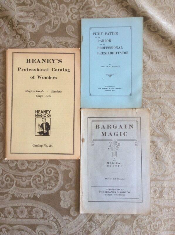 HEANEY MAGIC COMPANY: 3 1920's Original Catalogs