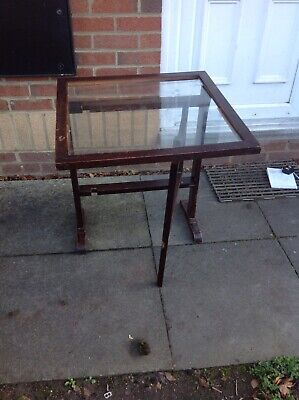 Antique Folding Table / Fire Screen In Fair Condition