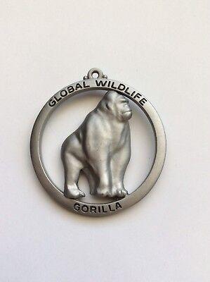 "Global Wildlife "" Gorilla "" 1992 Global Fine Pewter Figurine Made In USA - WOW"