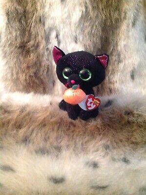 POTION THE LUCKY HALLOWEEN  BLACK CAT BEANIE BOO MWMT 6