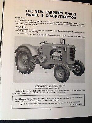 Rare Copy The New Farmers Union Model 3 Co-op Tractor Book