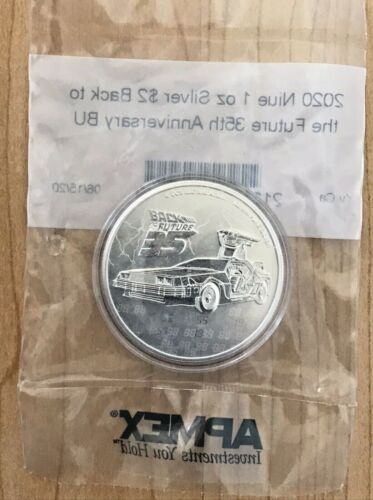 2020 Niue Back to the Future 35th Anniversary 1OZ SILVER 10K MINTED SEALED APMEX