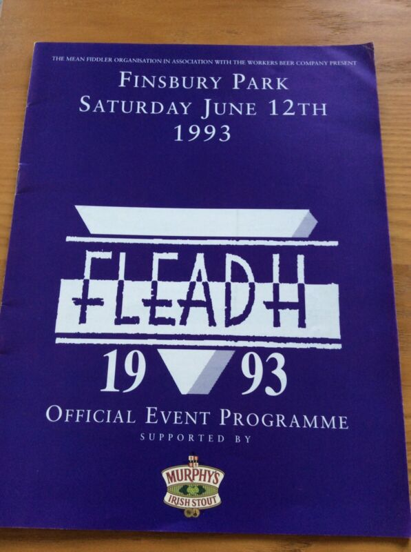 Fleadh Official Event Programme June 12th 1993
