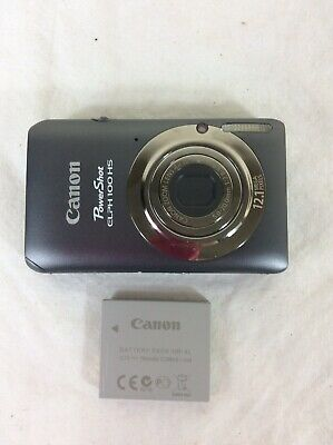 Canon PowerShot ELPH 100 HS 12.1MP Digital Camera - Silver With Battery