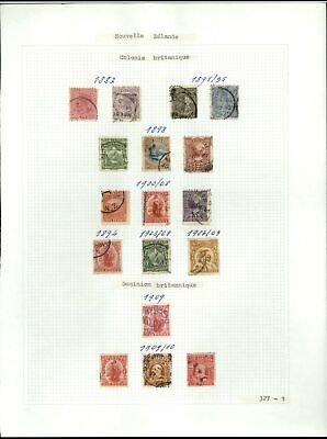 New Zealand 1882-1910 Album Page Of Stamps #V21267