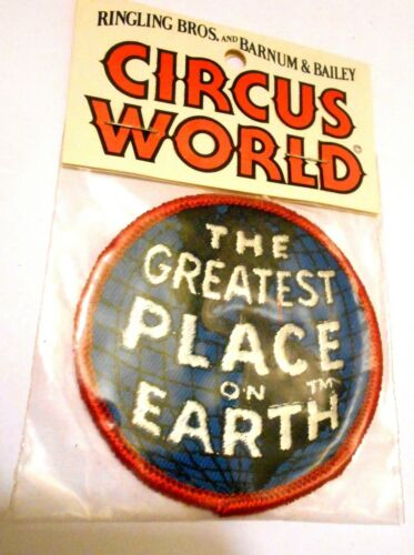 """Circus World  Patch Embroidered Ale 3"""" Vintage iron on Ringling Barnum & Bailey"""