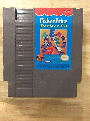 Fisher-Price Perfect Fit, Nintendo NES, Released 1990