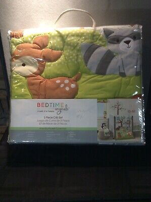 Bedtime Originals Friendly Forest 3-Piece Crib Bedding Set -Brand new never used