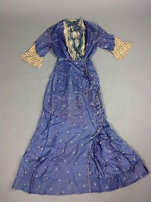 Vintage/Antique 1900's/1910's Edwardian Silk Printed Gown