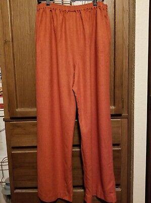 Eskandar Pants 42% Cashmere 58% Silk Blend Size 3 Oversized Burnt Orange Cashmere Blend Pants