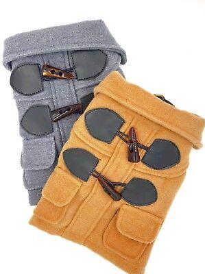 Dog Fleece Toggle Peacoat Jacket Pet Winter Apparel  (Dog Toggle)
