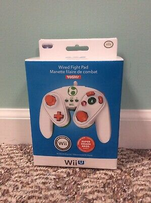 Yoshi Wired Fight Pad for Nintendo Wii U Super Smash Bros. PDP 085-006 Green