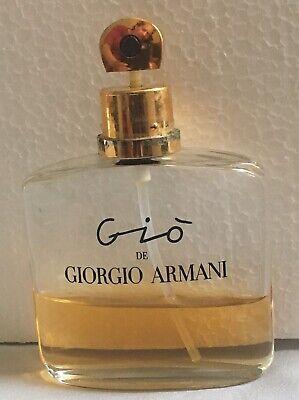 Vintage Gio de Giorgio Armani, 50mL/1.7 oz Eau de Parfum Spray-Approx 35% Left